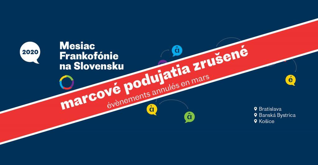 Mesiac Frankofónie naSlovensku –podujatia zrušené