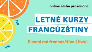Letné kurzy francúzštiny 2020