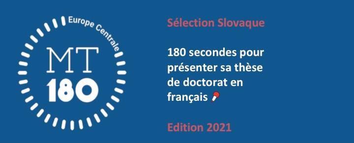 Môj doktorát za180 sekúnd –ročník 2021