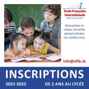 Les inscriptions à l'Ecole française de Bratislava sont ouvertes !