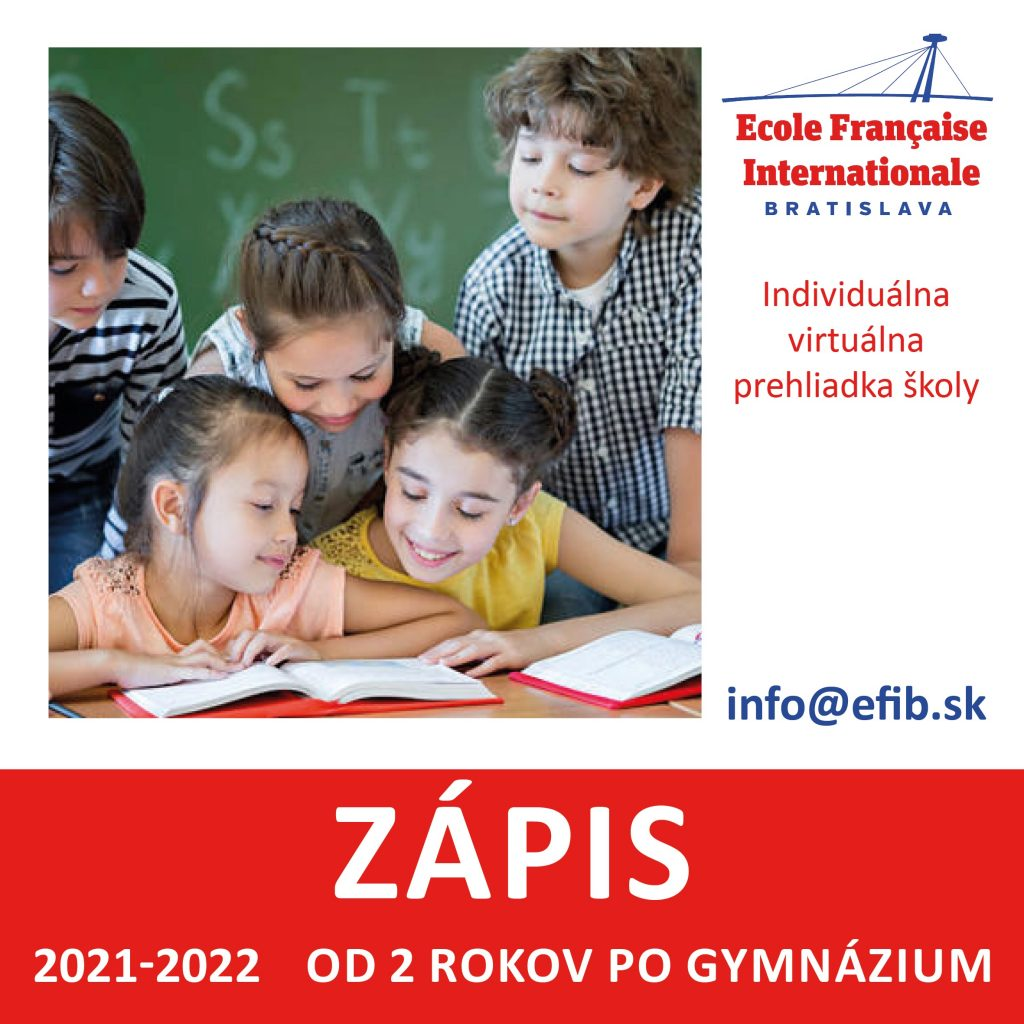 Zápisy doFrancúzskej školy vBratislave sú otvorené!