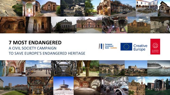 """Vyhlásenie výzvy preprogram """"7 Most Endangered""""narok 2022"""